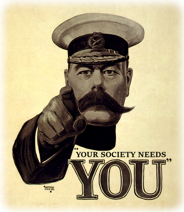 Your society need YOU!
